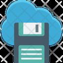 Cloud Computing Cloud Floppy Data Storage Icon