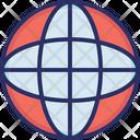 Data Storage Global Globe Icon
