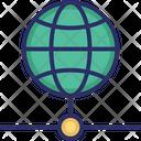 Data Storage Globe Network Globe Server Icon