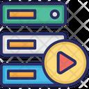 Data Storage Data Storage With Play Database Icon