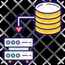 Data Storage Data Transfer Data Sharing Icon