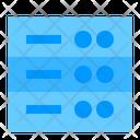 Data Storage Cloud Network Icon