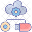 Data Storage Cloud Gear Icon