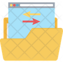 Data Storage Data Network Data Sharing Icon