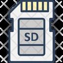 Data Storage Memory Card Memory Storage Icon