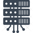Data Storage Device Rack Computer Rackmount Server Icon
