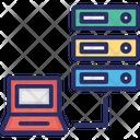Data Storage Transfer To Pc Icon