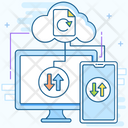 Data Sync Data Reload Cloud Computing Icon
