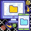 Data Synchronization Data Transfer Data Flow Icon