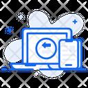 Data Synchronization Data Sharing Data Transfer Icon