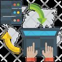 Data Sharing Online Data Data Implementation Icon