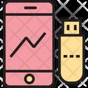 Data Transfer Data Sharing Usb Data Icon