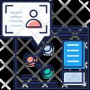 Data Transfer Data Synchronization Data Sharing Icon