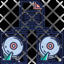 Data Transfer Synchronization Data Interchange Icon