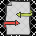 Data Syncing Data Transfer Data Sharing Icon