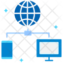 Data Transfer Internet Connection Internet Connectivity Icon
