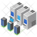 Data Transfer Data Hosting Data Rack Icon