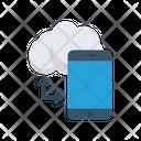 Data Transfer Cloud Mobile Icon