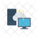 Data Transfer Cloud File Sharing Icon