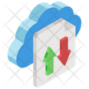 Data Transfer Data Transmission Data Uploading Icon