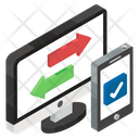 Data Transfer Data Shift Data Transformation Icon