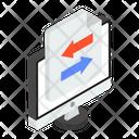 Data Transfer Data Transformation Data Swipe Icon