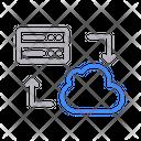 Datatransfer Filesharing Cloud Icon