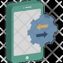 Data Transfer Data Transfer App Exchanging Info Icon
