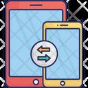 Data Sharing Data Transfer Mobile Icon