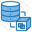 Data Transfer Big Data Blockchain Icon