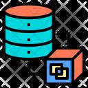 Data Transfer Big Data Online Icon