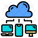 Data Transfer Cloud System Online Icon