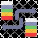 Data Transfer Data Sharing Synchronization Icon