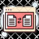 Data Transfer Data Sharing Online Data Sharing Icon