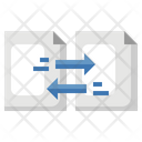 Data Transfer Document Exchange File Exchange Icon
