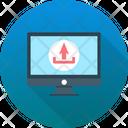 Data Transferring Uploading Website Launch Icon
