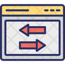 Arrows Data Exchanging Data Sharing Icon