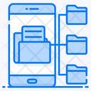 Data Transformation Folder Network Data Storage Icon