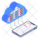 Data Exchange Data Transformation Mobile Cloud Icon