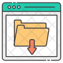 Data Transmission Downloading File Folder Download Icon