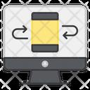 Data Transmission Data Rotation Data Share Icon