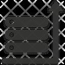 Server Upload Data Storage Icon