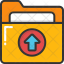Folder Data Upload Icon
