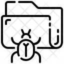 Data Virus Folder Antivirus Icon