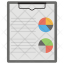 Data Visualization Data Prediction Data Reporting Icon
