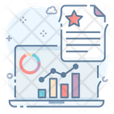 Data Visualization Growth Analysis Business Profit Icon