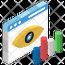 Data Visualization Data Monitoring Data Analytics Icon