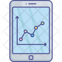 Data Visualization Mobile Graph Mobile Interface Icon