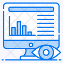 Data Visualization Data Monitoring Online Graph Icon
