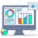 Data Display Data Visualization Online Analytics Icon